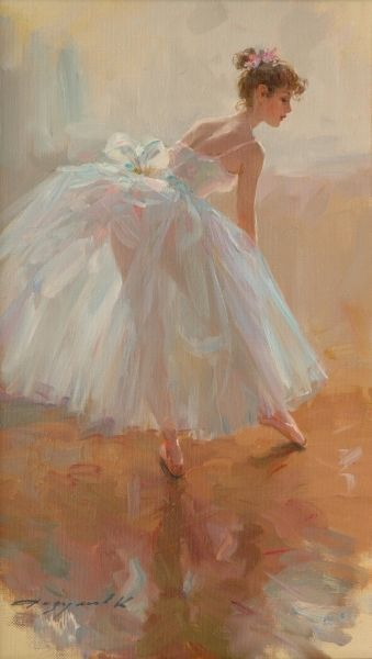 Konstantin Razumov - The Ballet Dancer #paintingsubjects #painting #subjects