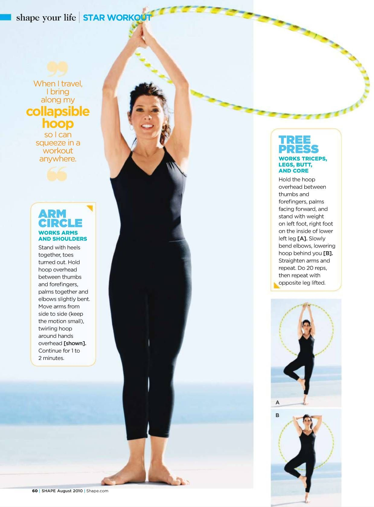 Marisa Tomei Hulahoop Readypac And Fit Fresh Hula Hoop Workout Heath And Fitness Hooping Tutorials