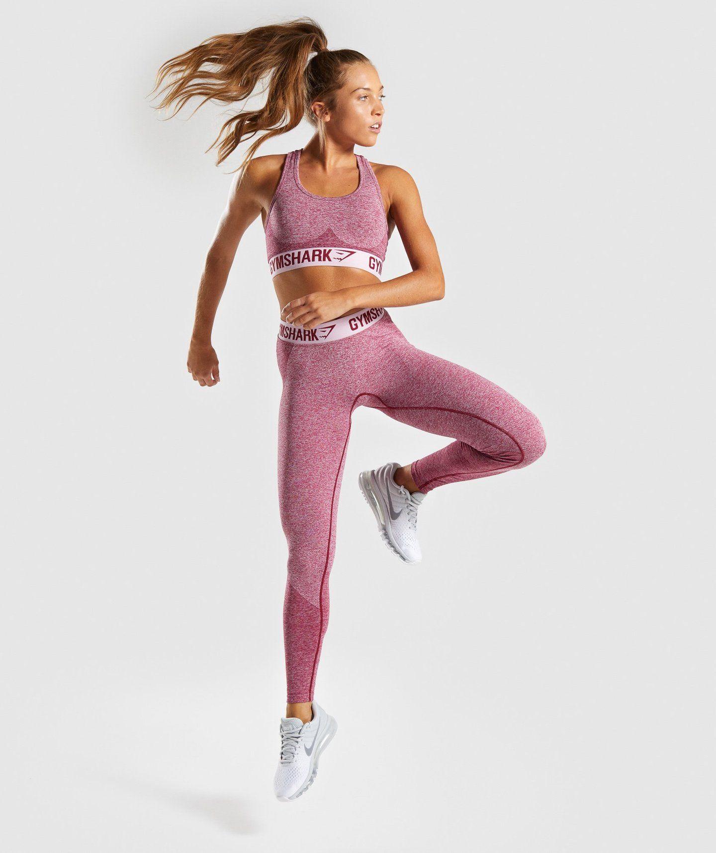 c73410490c213 Gymshark Flex Leggings - Beet Marl/Chalk Pink 3   Bras in 2019 ...