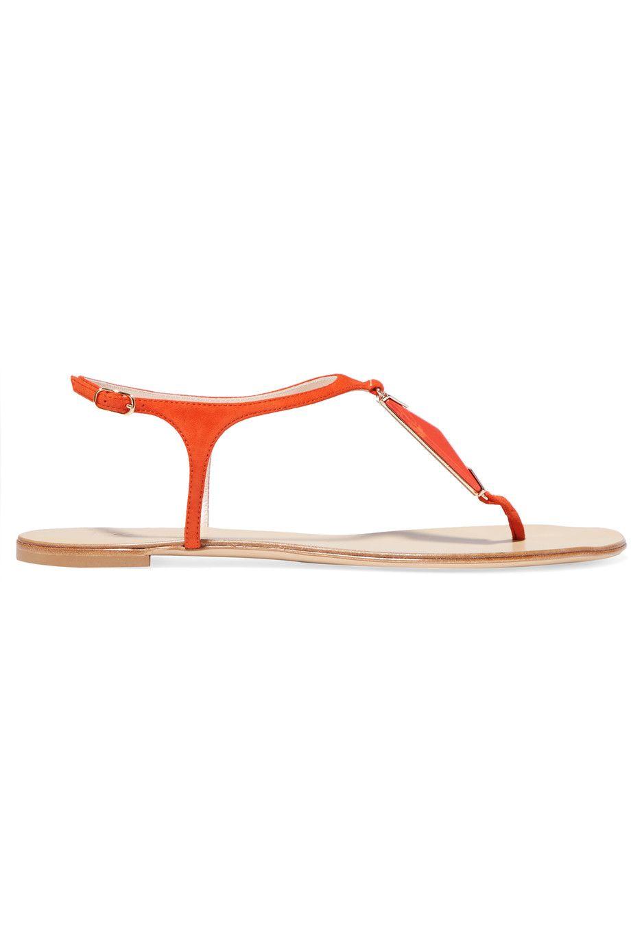 CASADEI Stone-Embellished Suede Sandals. #casadei #shoes #sandals
