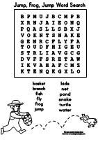 Word Search Puzzle for the book Jump Frog Jump from Making
