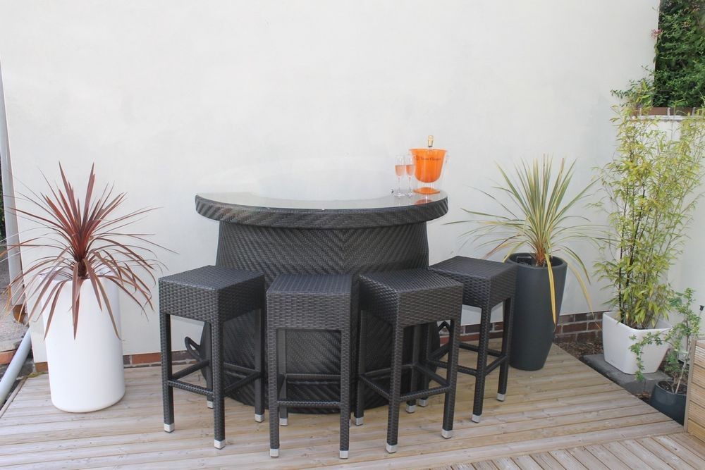 Superb Stylish Rattan Outdoor Bar Counter Ebay Rattan Outdoor Home Remodeling Inspirations Propsscottssportslandcom