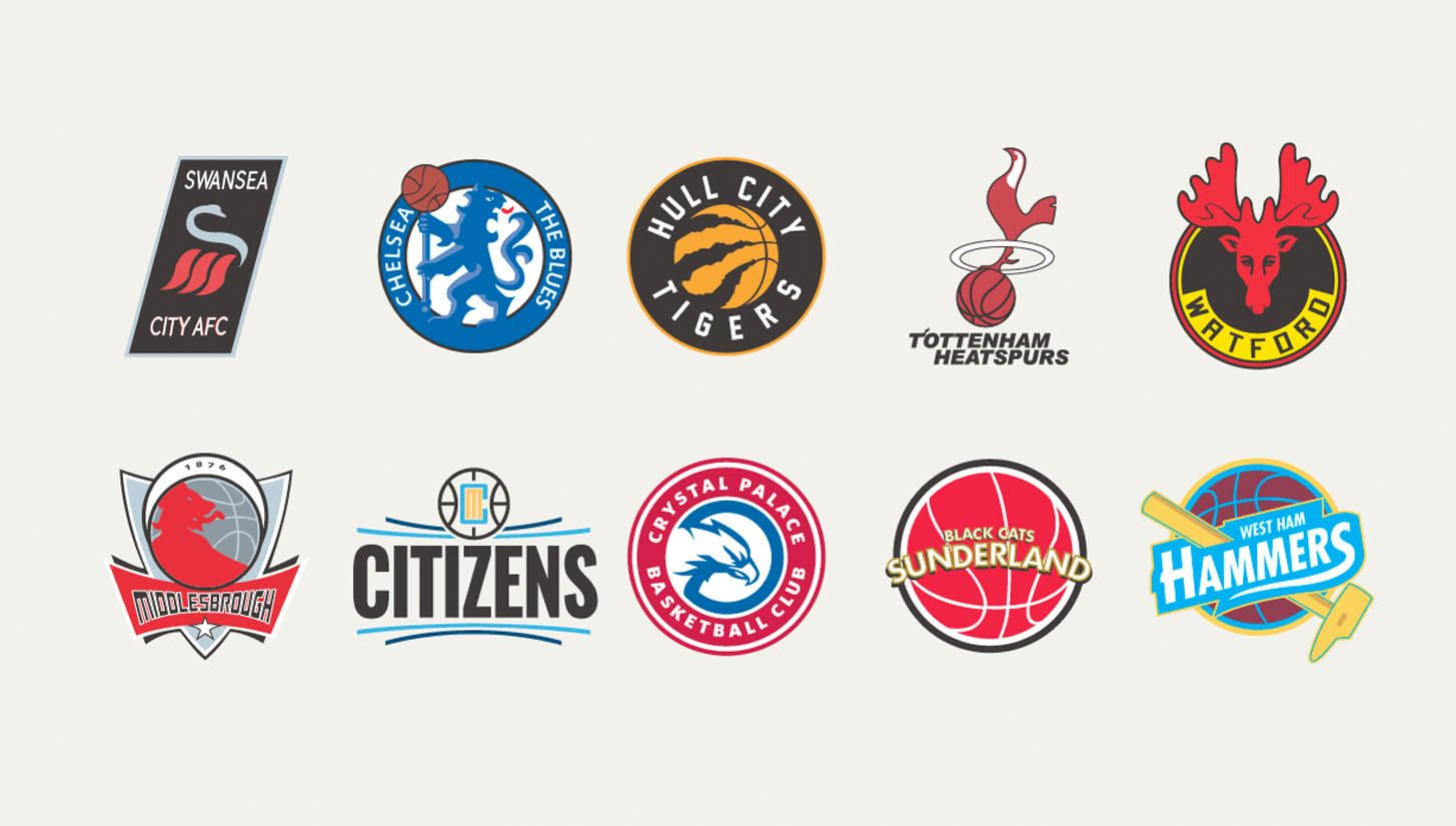 Premier League Badges Blended With Nba Teams By Liam Heath Esportes