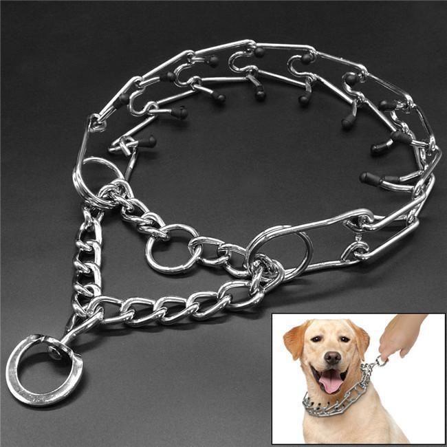 4 16 Dog Prong Collar Rubber Tips Pinch Chain Choke Dog