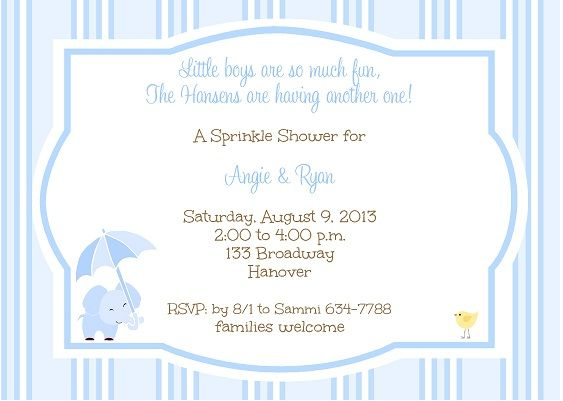 second baby baby shower invitation templates google search party