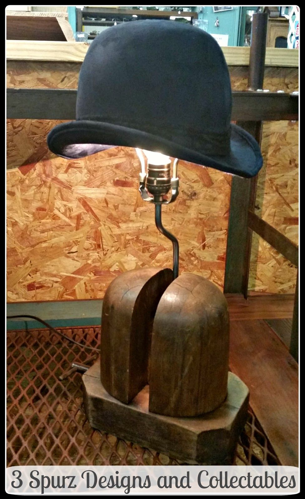3 Spurz Dandc Repurposed Refurbished Creations Antique Hats Repurposed Lamp