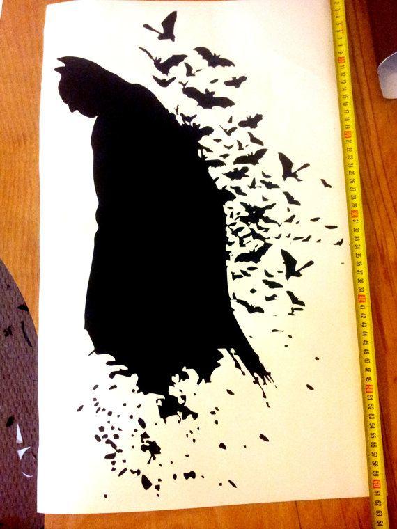 Batman Wall Decal, Kids Room, Sticker Large 600mm X 400mm Bats