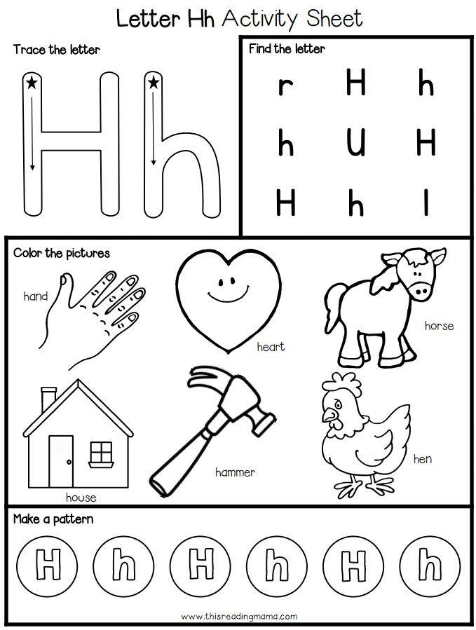 Pin By Julie Matta On Lethers Alphabet Worksheets Preschool Alphabet Worksheets Kindergarten Alphabet Activities Preschool Letter h worksheets for kindergarten pdf