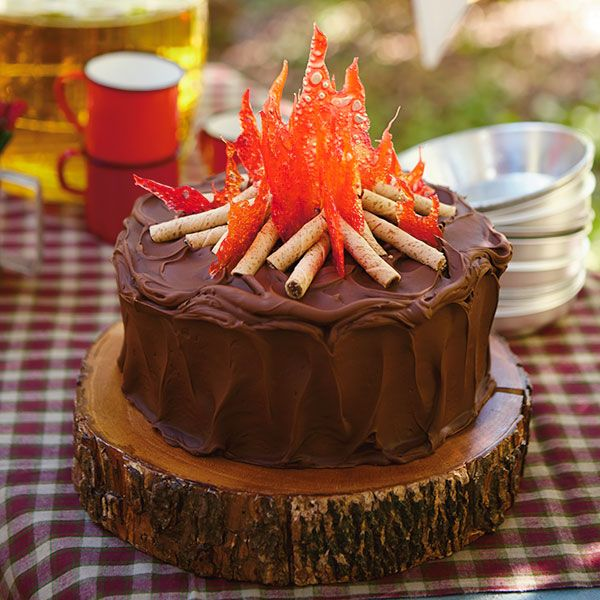 Fine Campfire Cake Recipe With Images Campfire Cake Camping Funny Birthday Cards Online Bapapcheapnameinfo