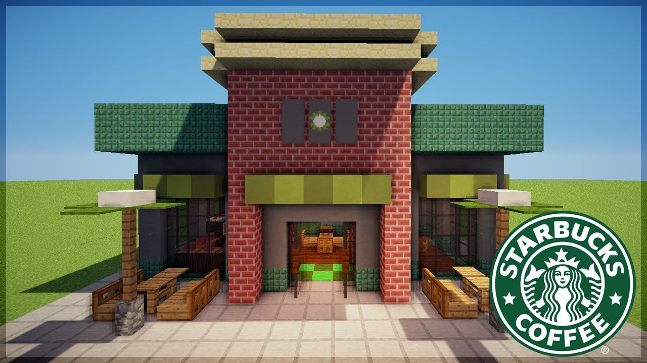 Minecraft Starbucks Design More