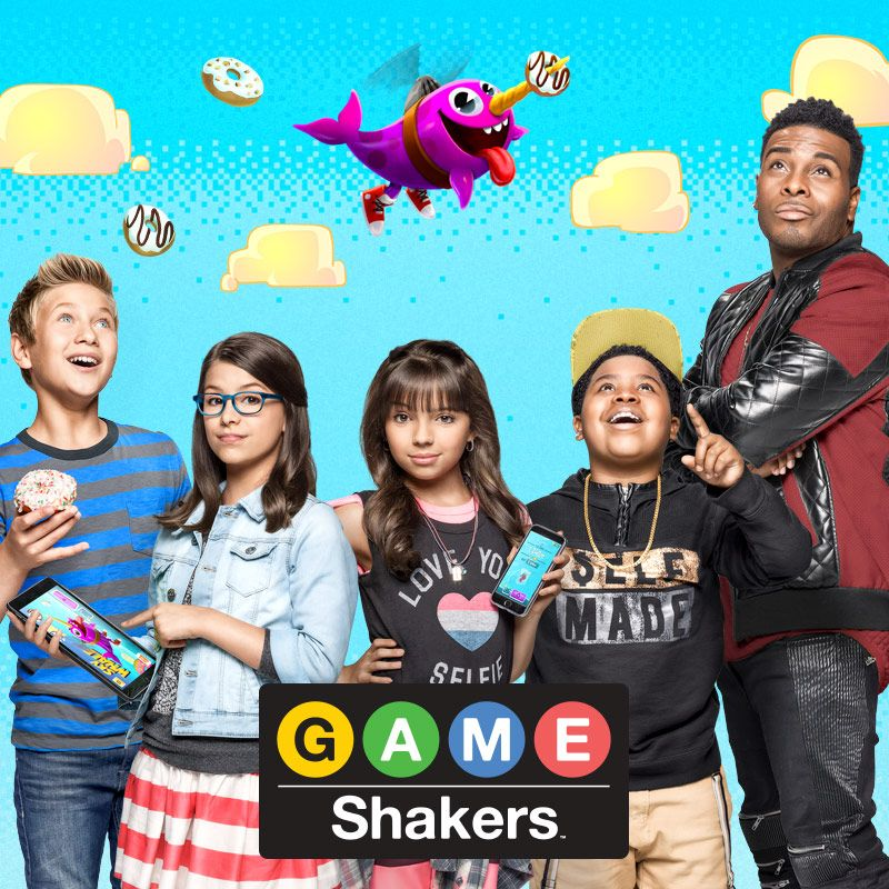 On set with the Cast of Nickelodeons Game Shakers Premiering