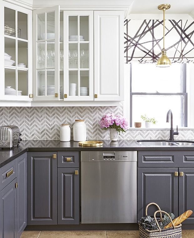 Trending Now Kitchens With Contrasting Cabinets Kitchen Cabinets Makeover Kitchen Inspirations Contemporary Kitchen