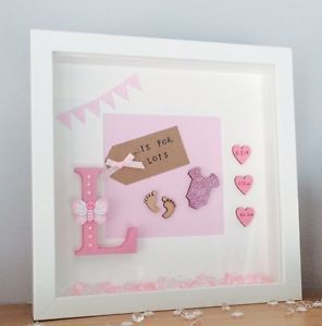 Baby Boy Initial Name Personalised Frame Birthday Christening Gift