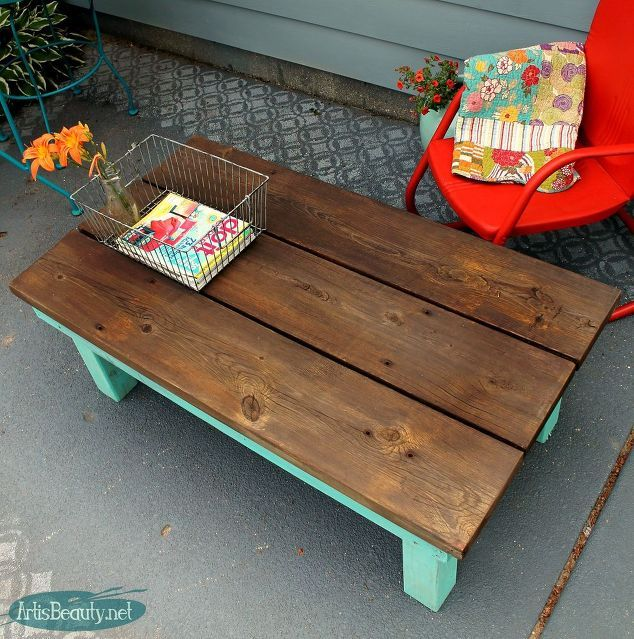 DIY Vintage Inspired Farmhouse Style Coffee Table DeckedOut