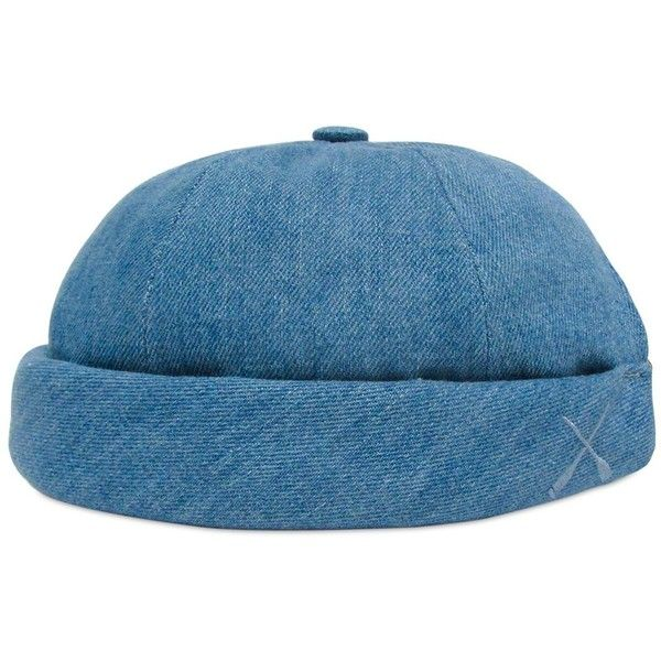 669ab834b52 BÉTON CIRÉ Handmade Washed Cotton Denim Sailor Hat ( 102) ❤ liked on  Polyvore featuring