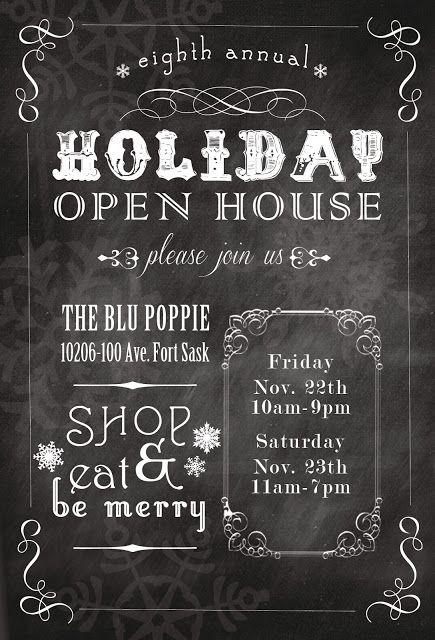 sixteensunbuckles {invitation} The Blu Poppie   Annual Holiday