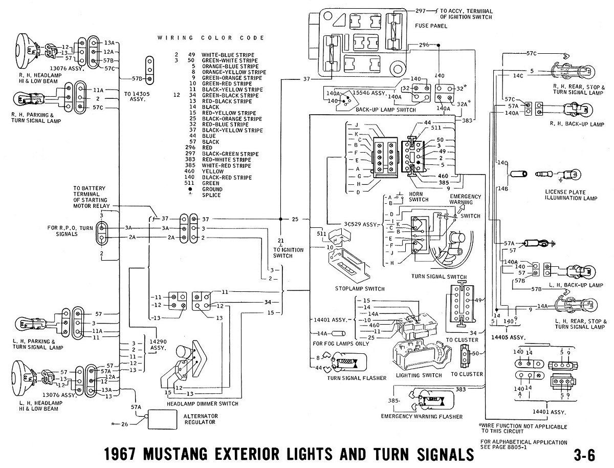 1967 Mustang Turn Signal Switch Wiring Diagram