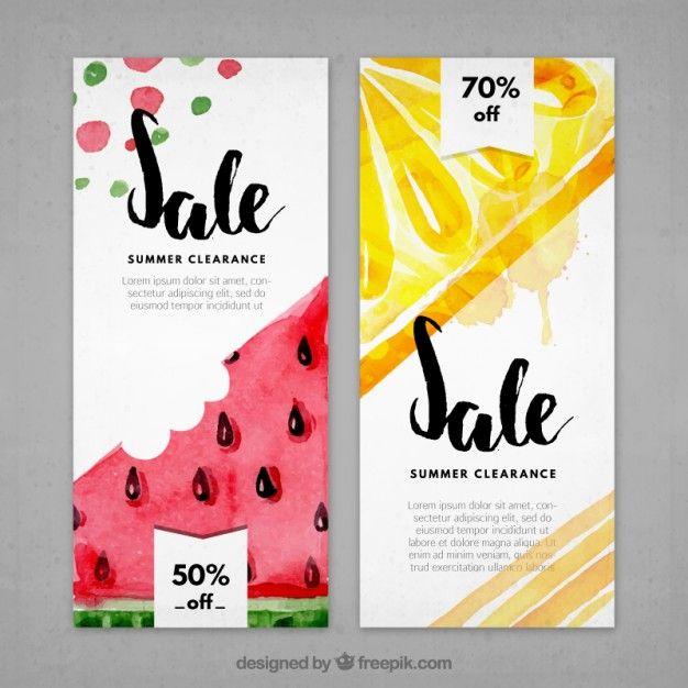 Oferece insecto em produtos de verão Banners, Layouts and Brochures - product flyer