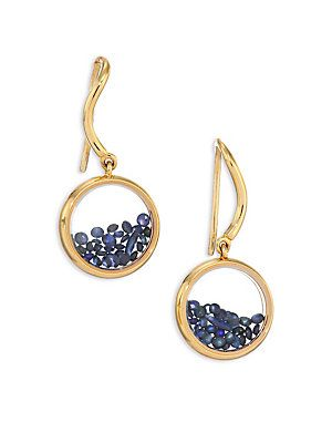 Aurélie Bidermann Blue Sapphire & 18K Yellow Gold Chivor Earrings