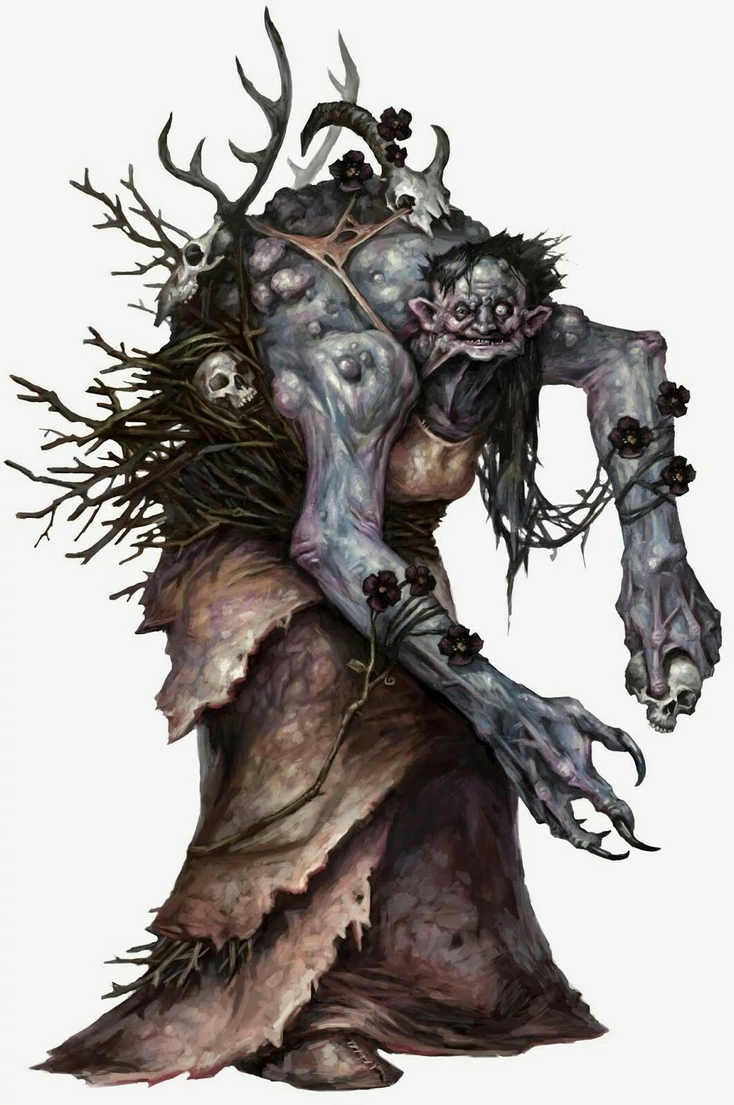 Annis Hag Races Fantasy Monster Dungeons Dragons Creature Concept