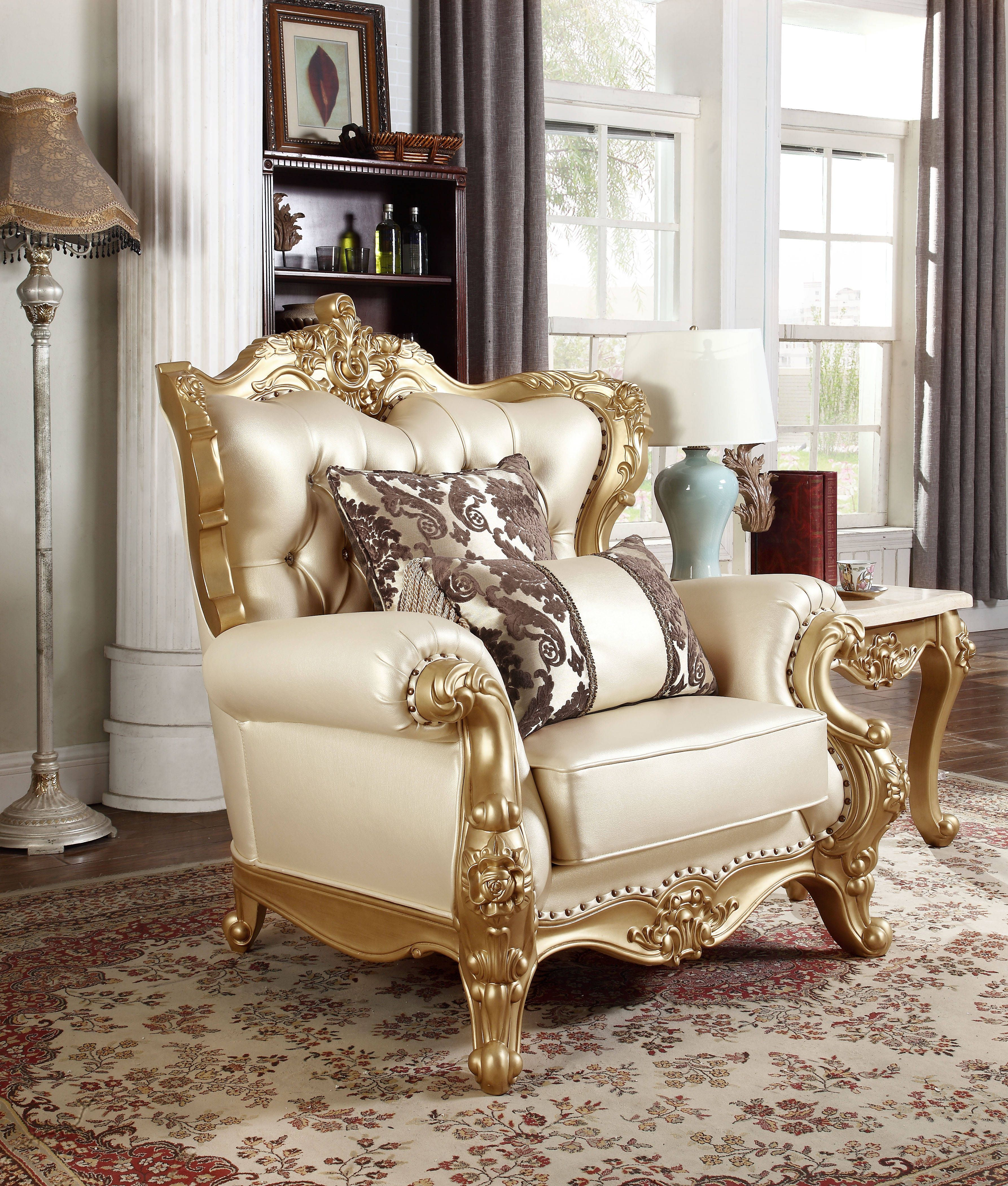 Design Chairs For Living Room Pleasing Bennito Pearl Bonded Leather Solid Wood Hand Carved Designs Chair Inspiration Design