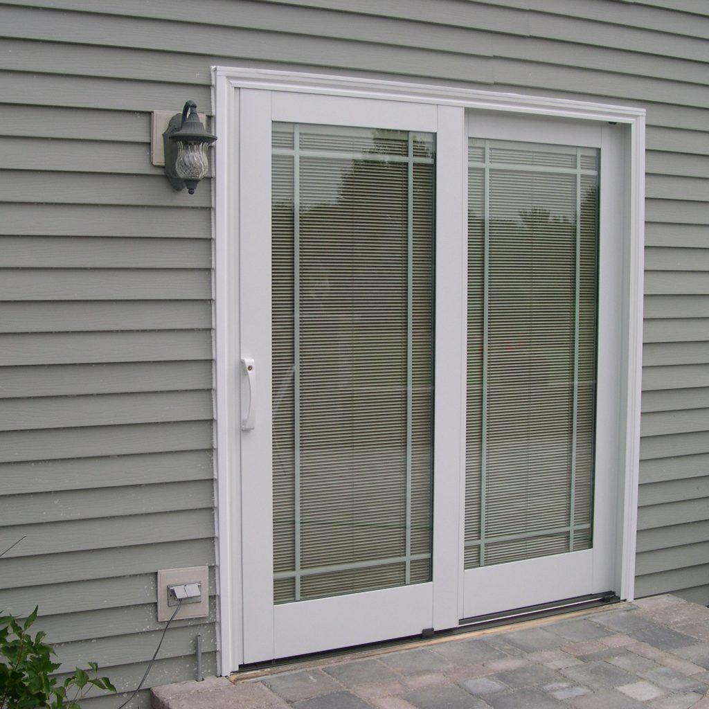 Andersen Sliding Patio Doors With Blinds Between The Glass Glass