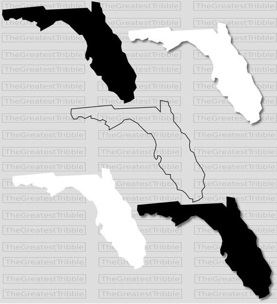 Florida State Map Svg Png Jpg Eps Vector Graphic Clip Art Us Etsy Florida State Map Clip Art State Map