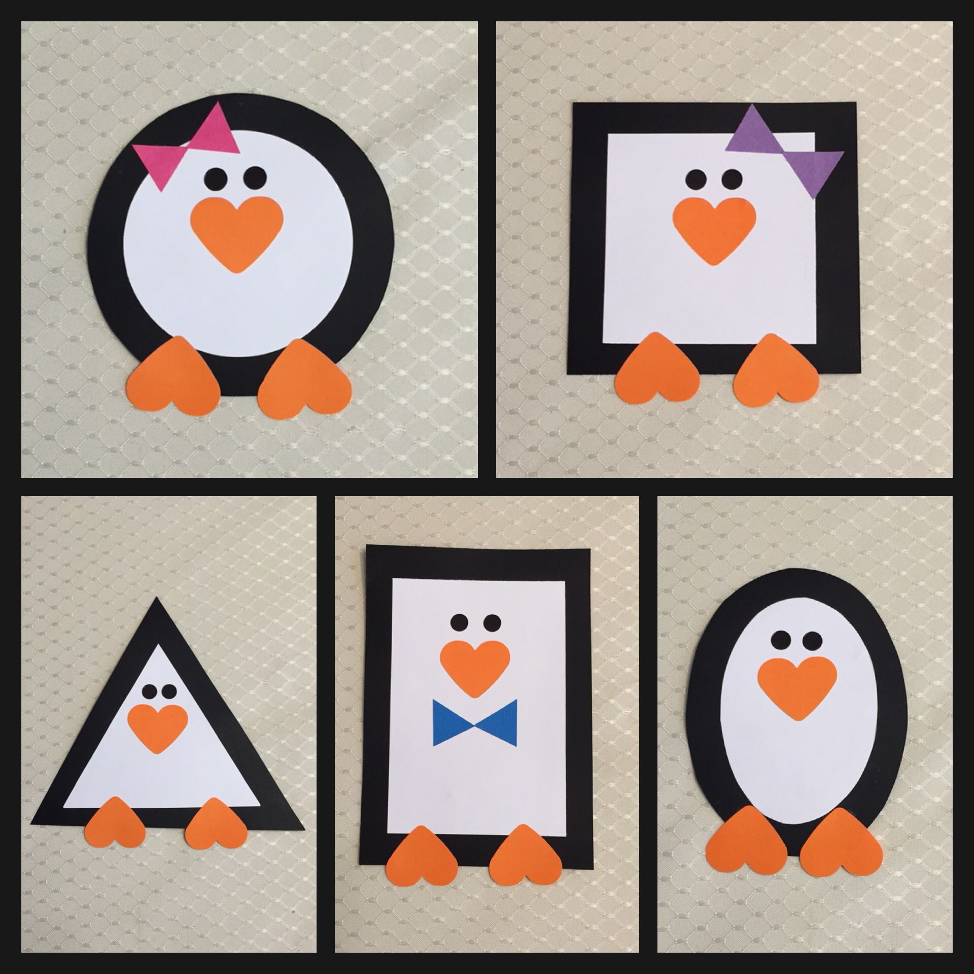 Shape Penguins I Created That Are Perfect For A Winter