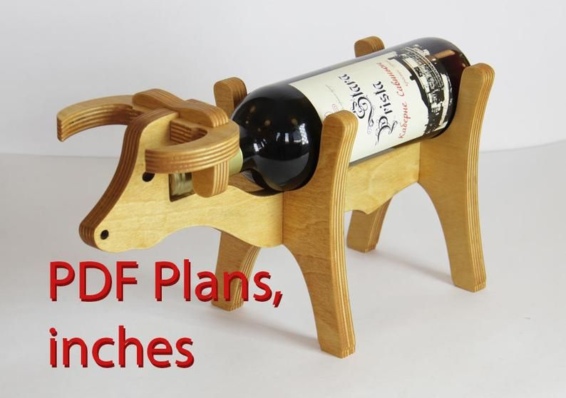 Bull cow wine bottle holder plans diy inches pdf patterns