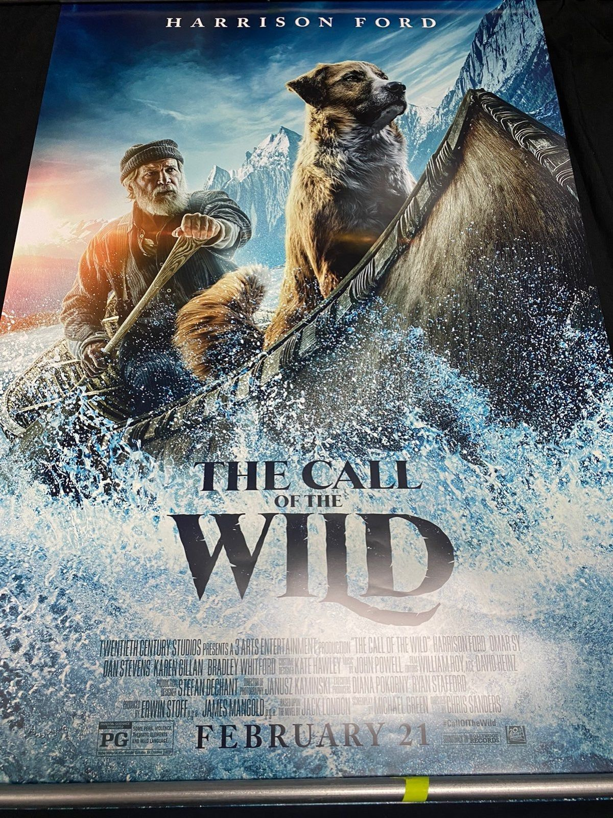 THE CALL OF THE WILD Movie Poster A sled dog struggles for