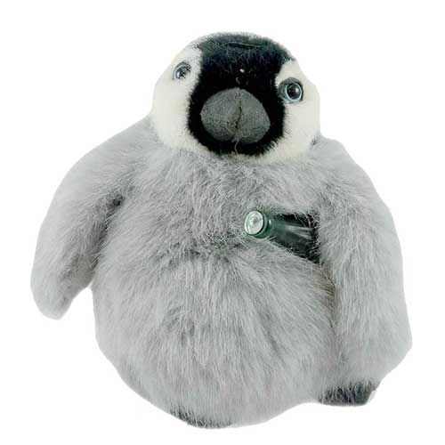 Here's a sweet collectible Emperor penguin plush. Bring him home for your kid, or, (we won't tell) you.