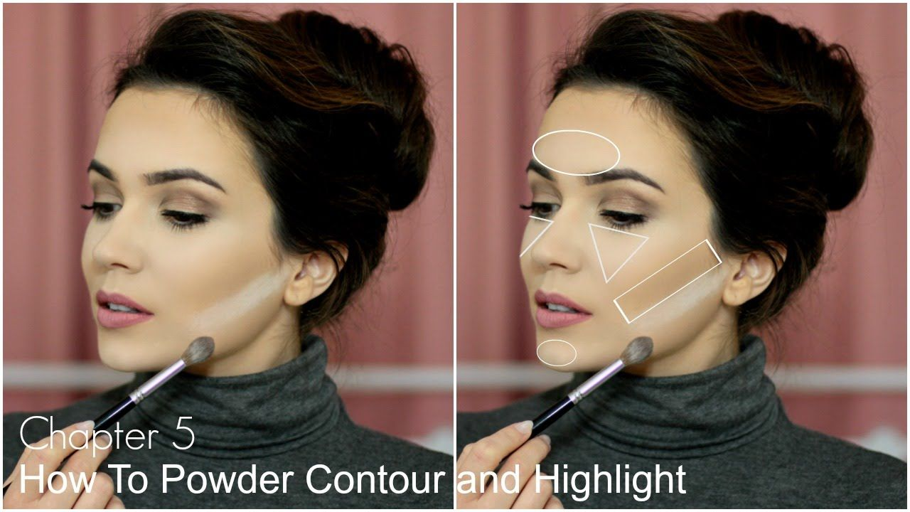 How To Contour and Highlight Face Nose & Cheeks (With