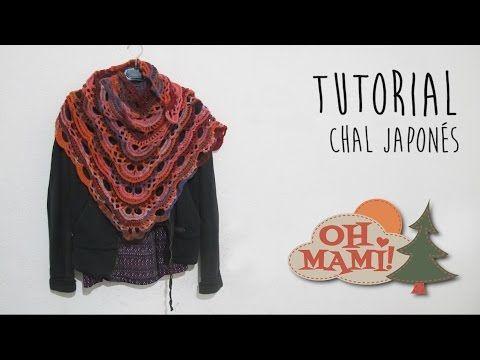 Cómo tejer Chal Japonés / Tutorial en español | Todo crochet ...