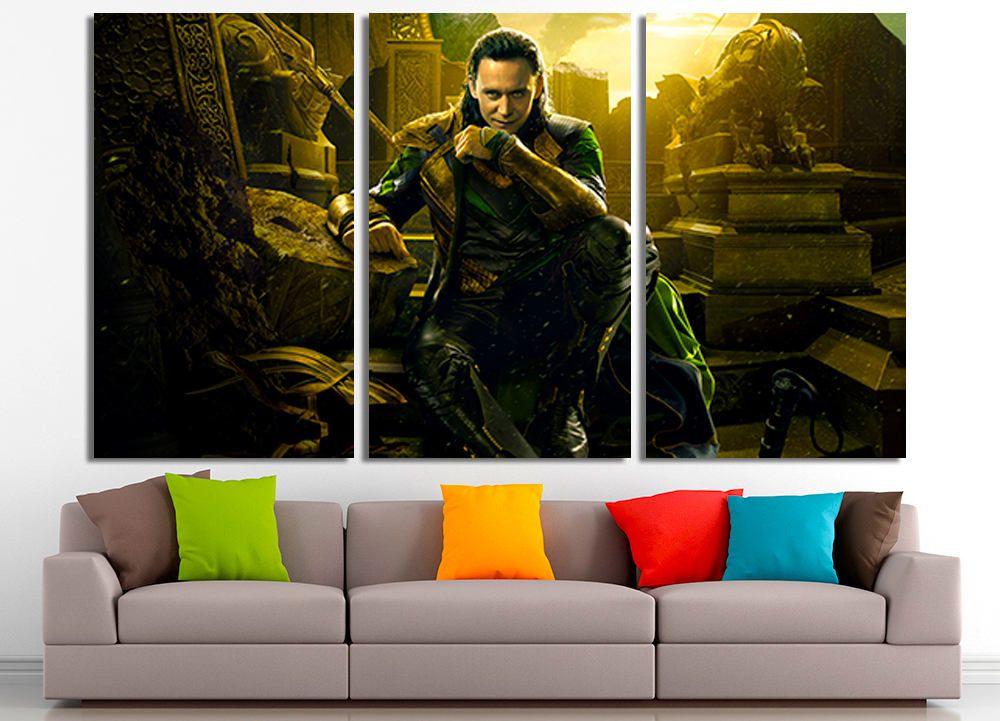 Loki Marvel Art Loki Canvas Marvel Wall Art Large Canvas Home Decor Marvel Home Decor Loki Photo Loki Print Marvel Print Ideias