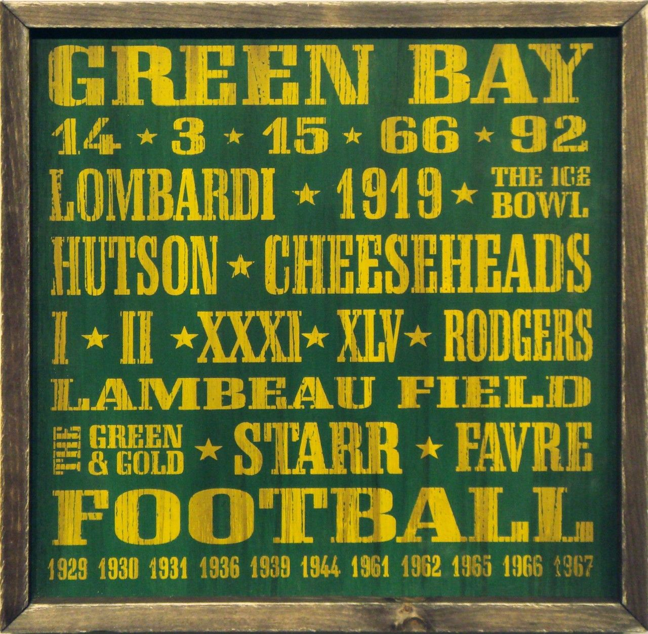 Country Marketplace - Vintage Green Bay Packers Wood Sign 18\