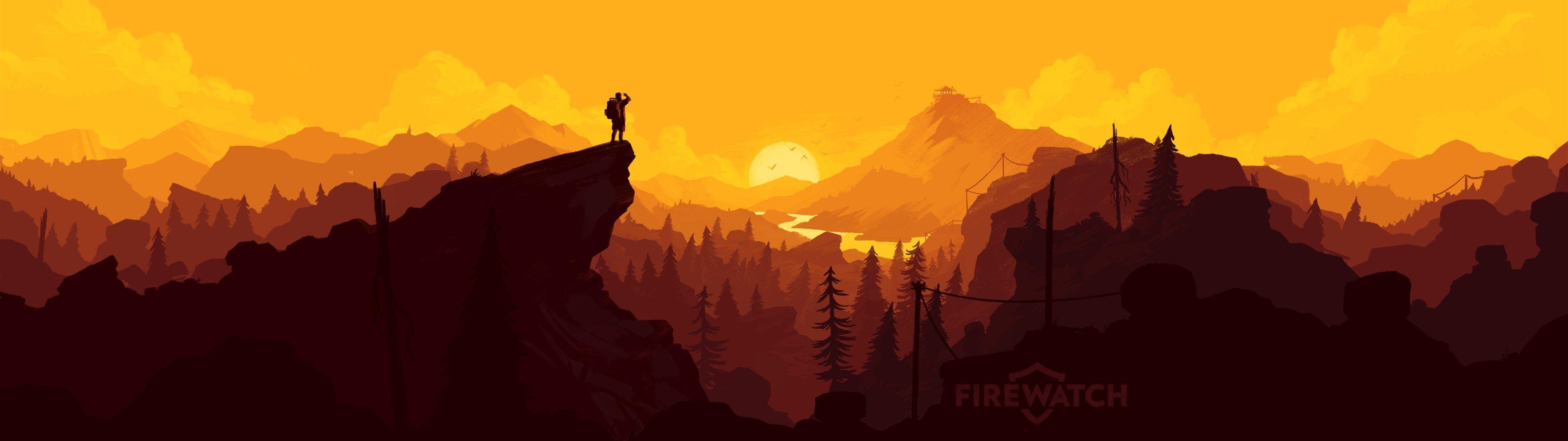 3840x1080 firewatch 4k hd wallpaper | wallpapers and backgronds | Art, 3840x1080 wallpaper и ...