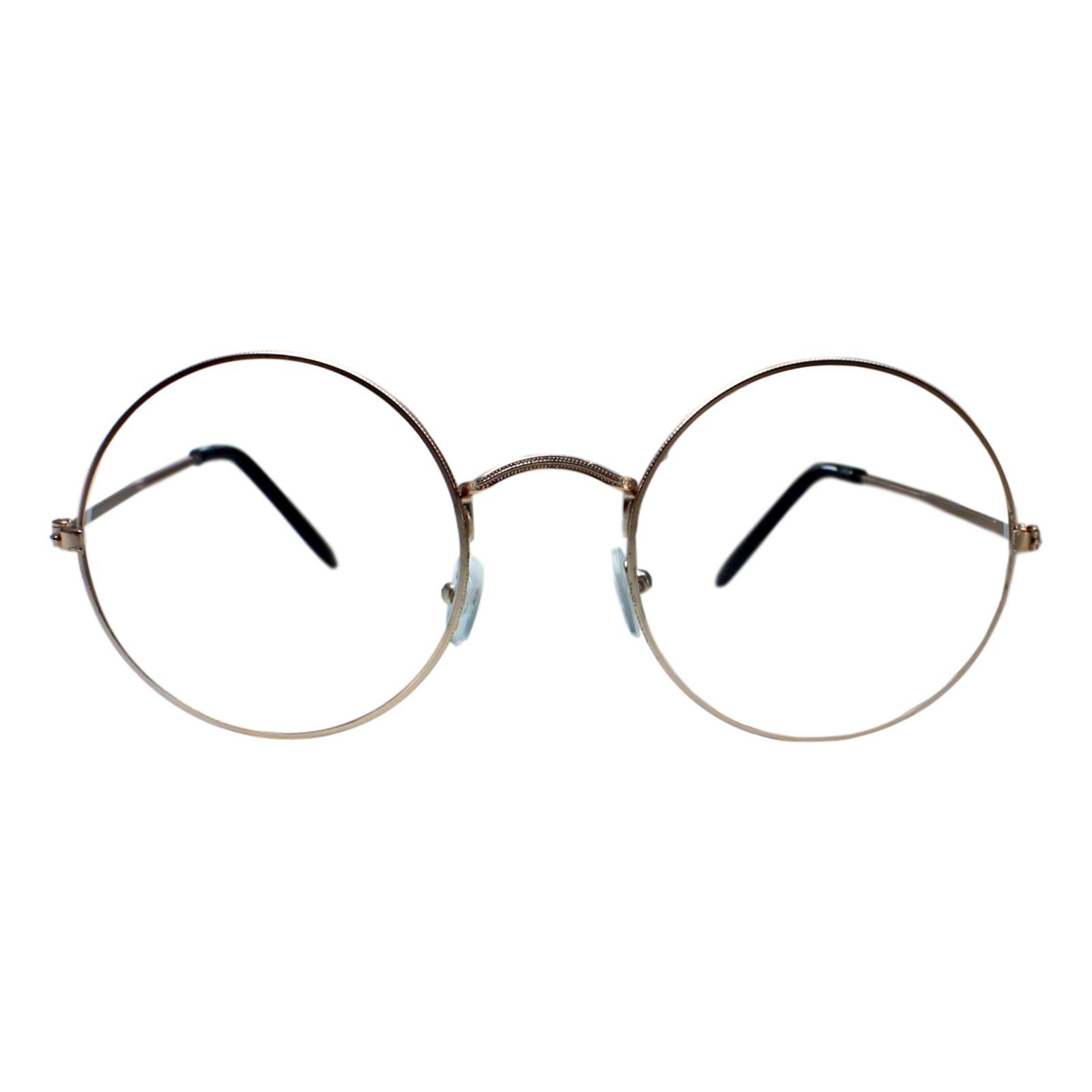 Armacao Para Oculos Dispar D1646 Redondo Grande Dourado Armacoes