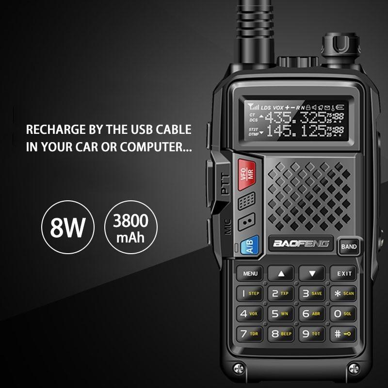 2018 BAOFENG BF-UVB3 PLUS 8W High Power UHF/VHF Dual Band