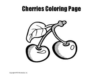Cherries Coloring Page Coloring Pages Printable Coloring Pages
