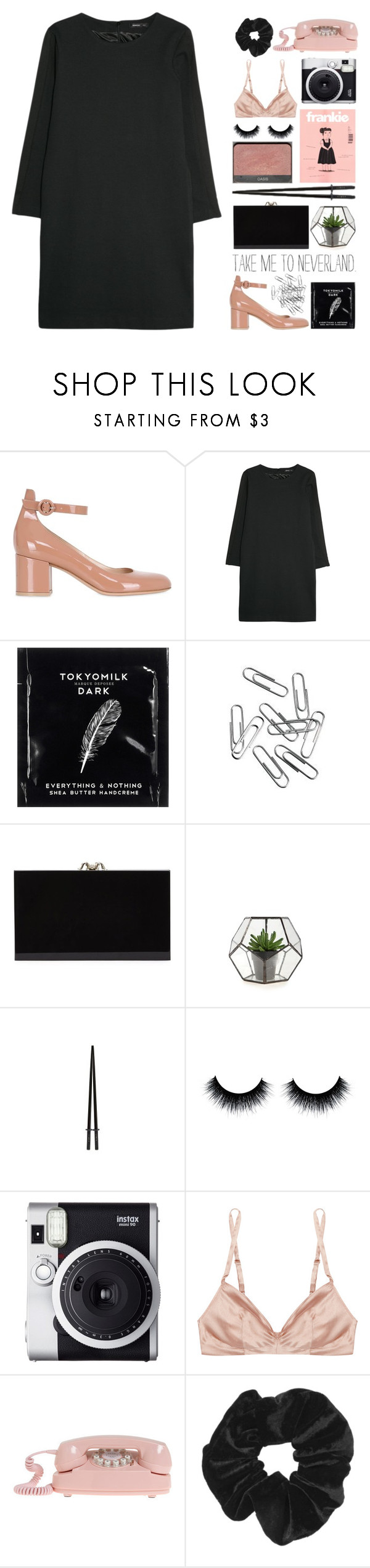 """""""Where flying in the sky"""" by yungfreshprincess ❤ liked on Polyvore featuring Gianvito Rossi, MANGO, TokyoMilk, Charlotte Olympia, Fuji, Rituel by Carine Gilson and Topshop"""