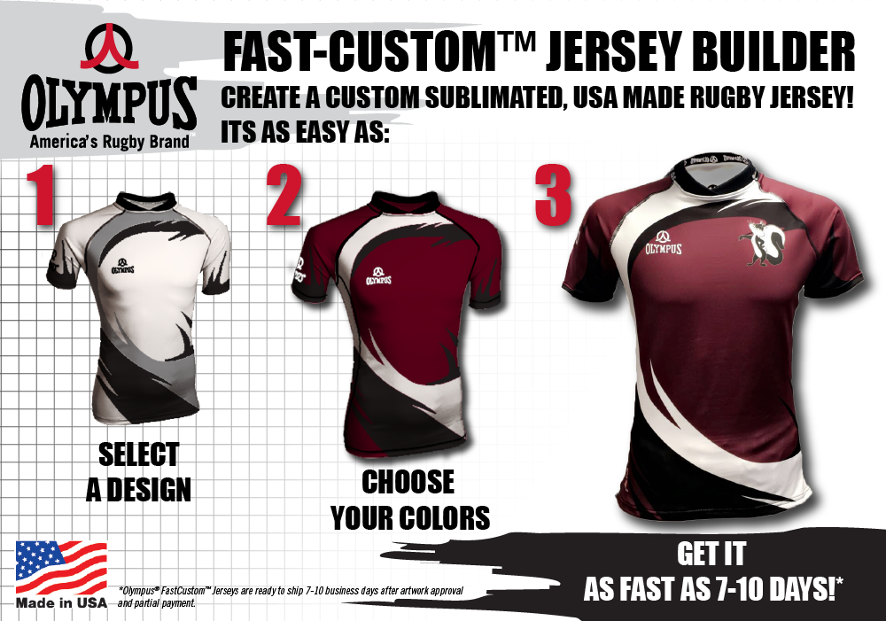 Olympus Fastcustom Jersey Builder Is Now Live Create Your Own Custom Sublimated Usa Made Rugby Jersey Ready To Ship 7 10 Days A Rugby Jersey Jersey Rugby