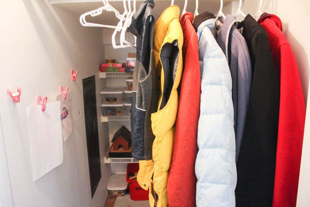 Turn an oversized closet under the stairs into a kids' play space.