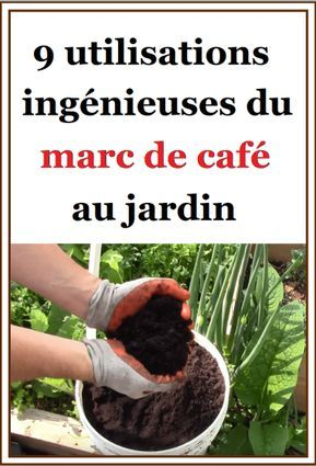 Jardinage : 9 utilisations ingénieuses du marc de café au jardin | Jardinage, Jardins, Marc de café
