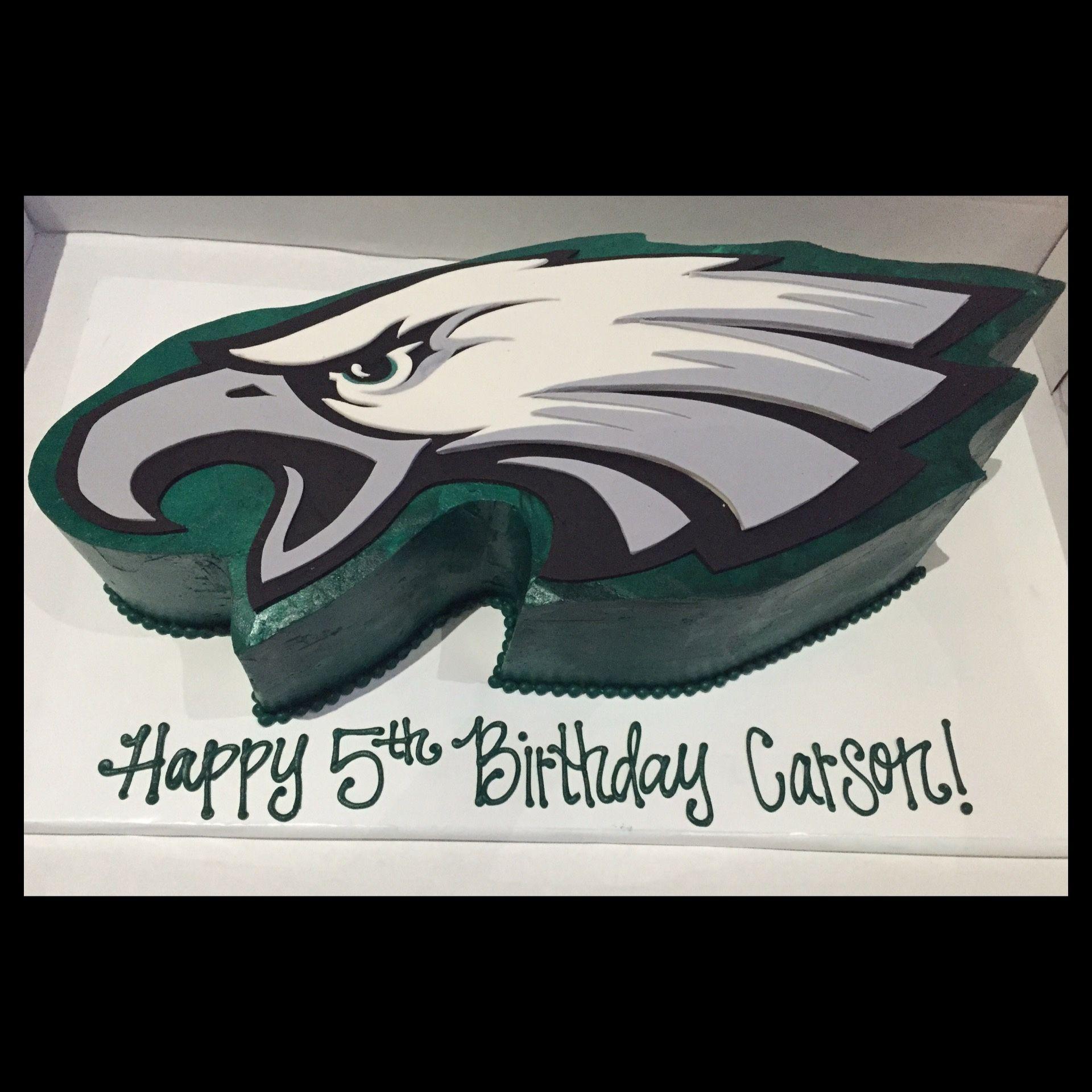 My big guys Philadelphia Eagles themed birthday cake by Sweet