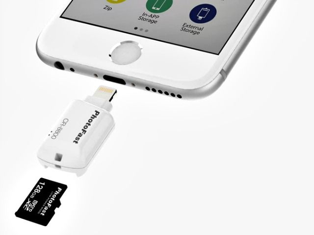 The PhotoFast iOS Card Reader is the world's smallest and fastest iOS drive in…
