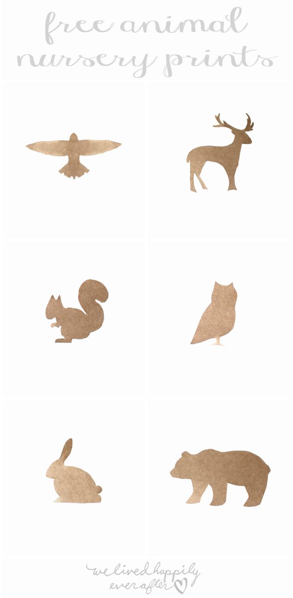 picture regarding Free Printable Silhouettes identified as Free of charge Animal Silhouette Printables Printables Animal