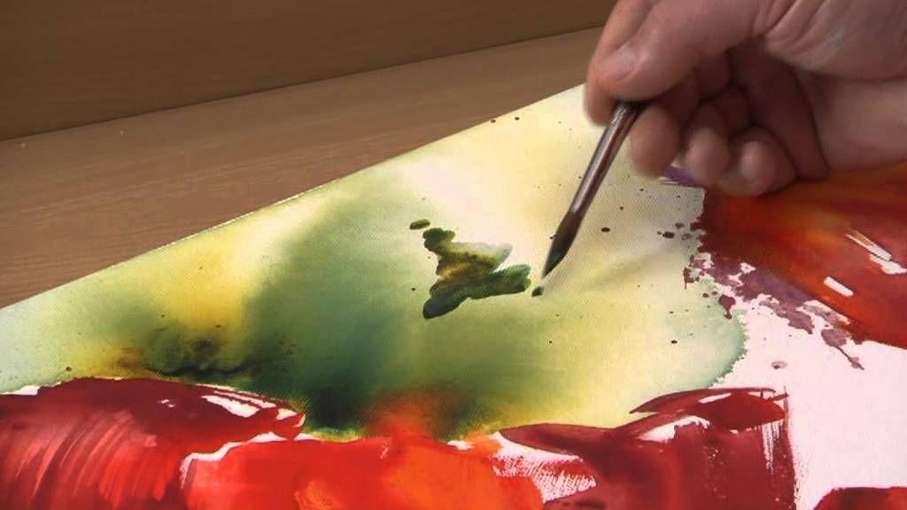 Schmincke Aquarellmalerei Auf Leinwand Blumen Aquarellmalerei