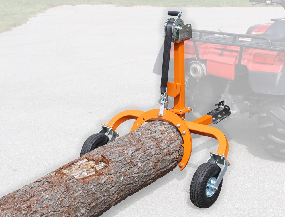 SkidLite log skidder equipped with optional MiniGrapple