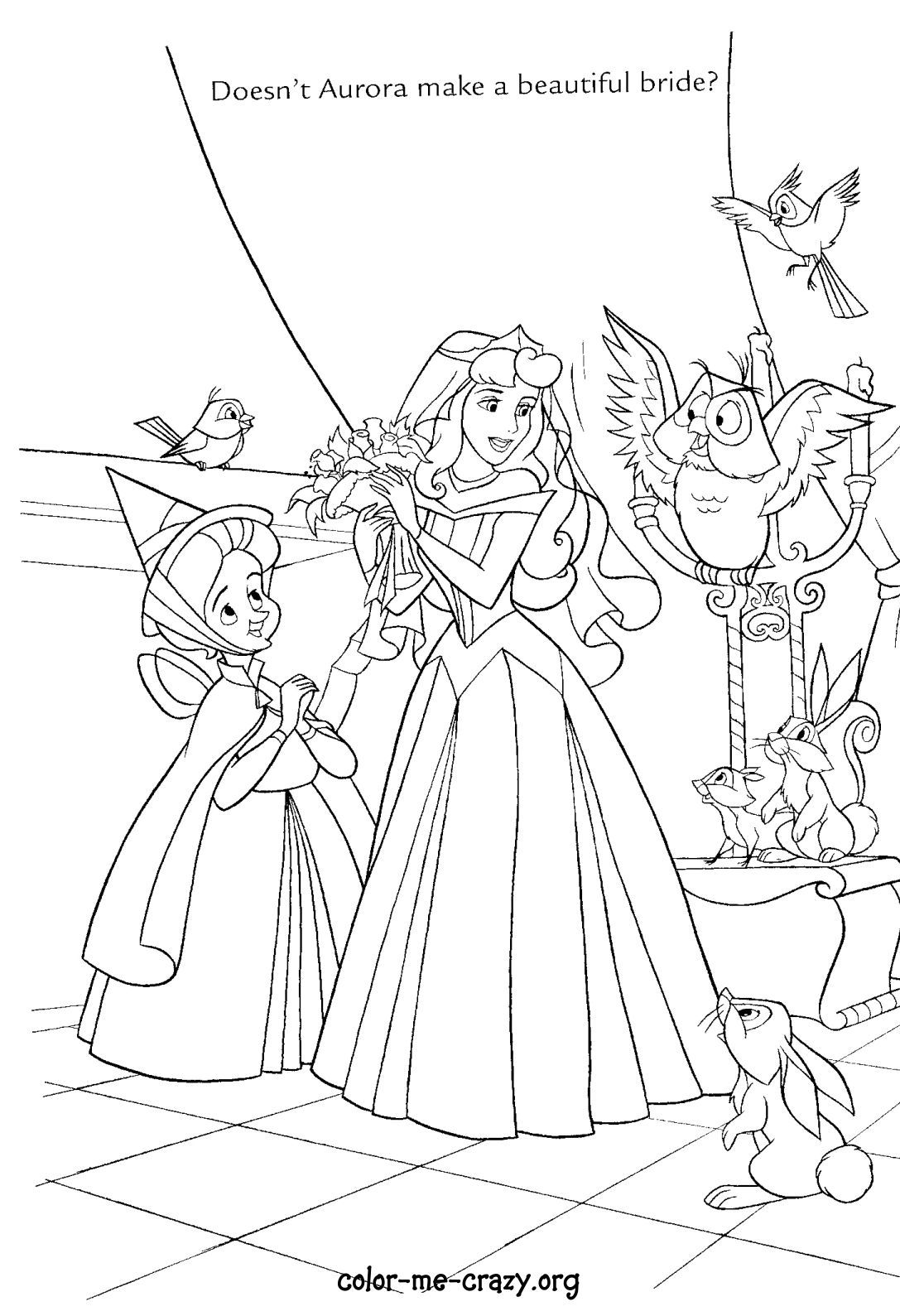 A Whole Bunch Of Disney Princess Wedding Themed Colouring Pages To