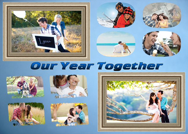 Cute and funny anniversary collage idea from ams collage look